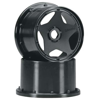 HPI Super Star Wheel Black 75mm Baja HPI3226