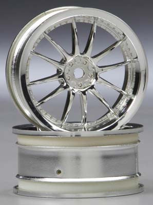 HPI Work XSA 02C Wheel, 26mm, Chrome, 3mm Offset HPI3280