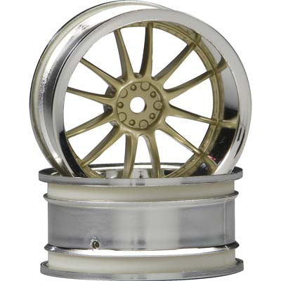 HPI Work XSA 02C Wheel, 26mm, Chrome/Gold, 9mm Offset HPI3299