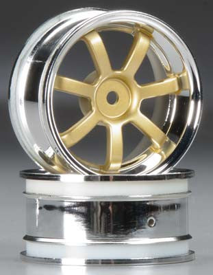 HPI Rays Gram Lights 57S-Pro Wheel, 3mm OffSet, Chrome/Gold HPI3319