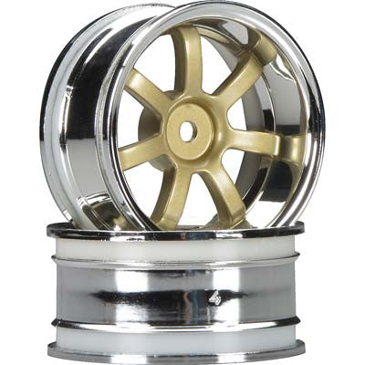 HPI Rays Gram Lights 57S-Pro Wheel, 6mm OffSet, Chrome/Gold HPI3320