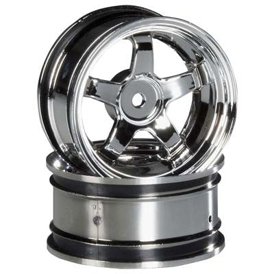 HPI Work Meister S1 Wheel, 26mm-6mm OffSet, Chrome HPI3592