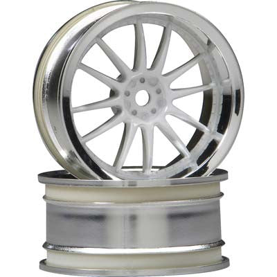 HPI Work XSA Wheel 26mm Chrome/White 3mm Offset (2) HPI3283