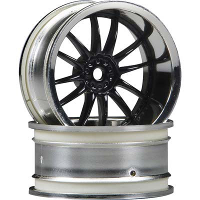 HPI Work XSA 02C Wheel, 26mm-6mm OffSet, Chrome/Black HPI3287