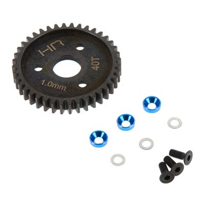 Hot Racing Steel Spur Gear 40T 1.0 Mod Traxxas Blue HRASRVO440