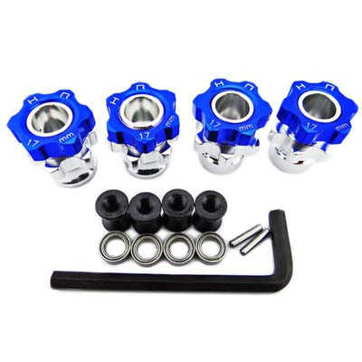 Hot Racing HRAJT107W06 17mm Wide +5mm Wheel Hubs w/Bearings
