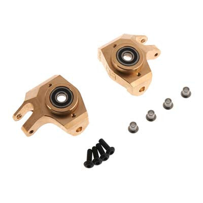 Hot Racing SCXT21HM Brass Heavy Metal HD Bearing Front Knuckle SCX HRASCXT21HM
