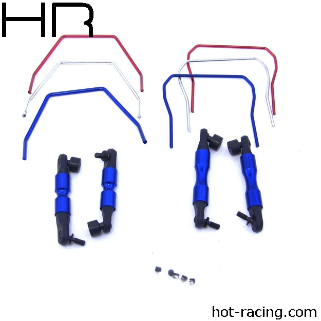 Hot Racing Front & Rear Sway Bar 4WD Slash Rally HRASLF311