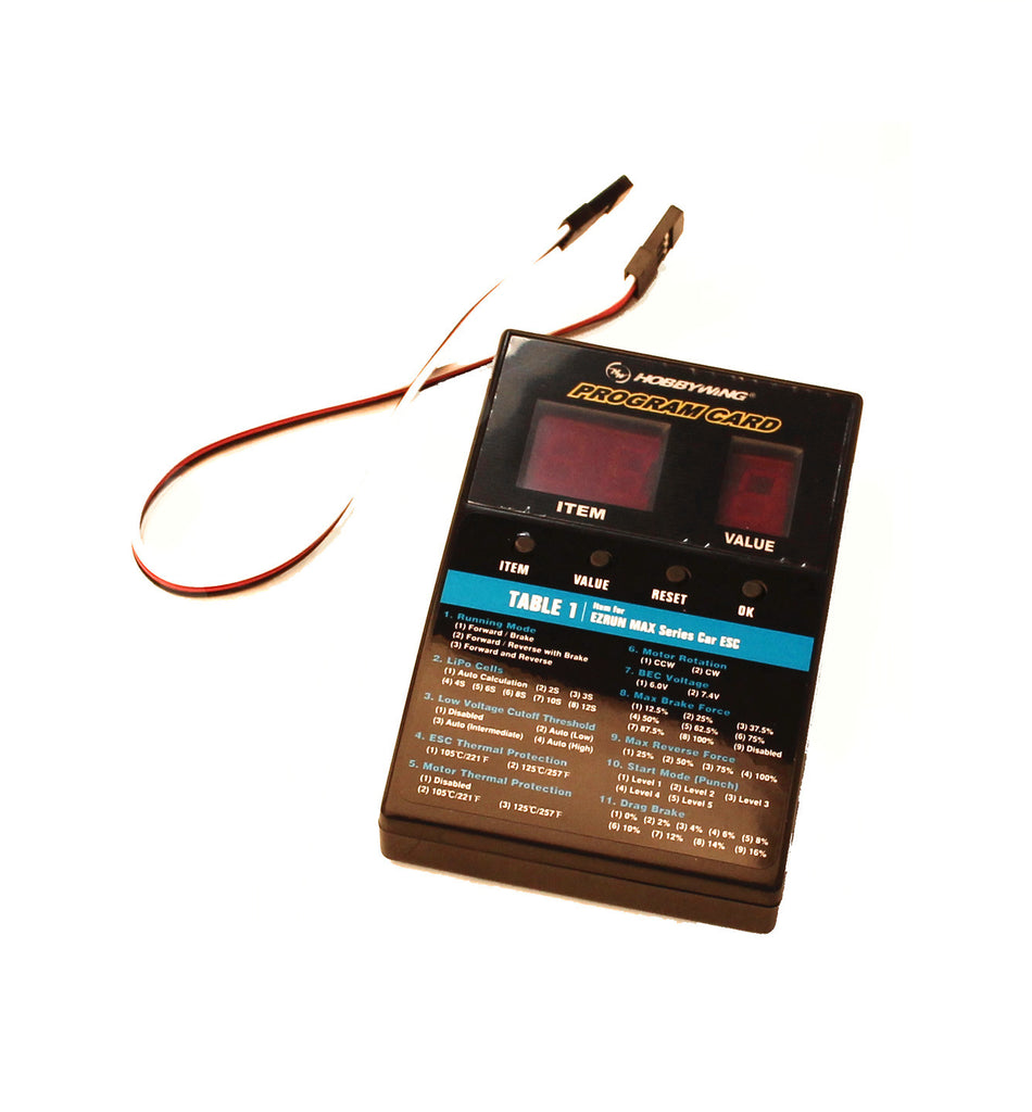 Hobbywing LED Program Card - General Use for Cars, Boats, and Air Use HWI30501003