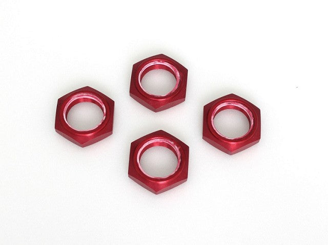 Kyosho Wheel Nut W/Nylon Insert Red 4 Pieces KYOIFW336R
