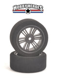 Contact 1/10 Front 62mm Carbon Rim 37 SHORE  On Road Foam Tires CONJ1CT73