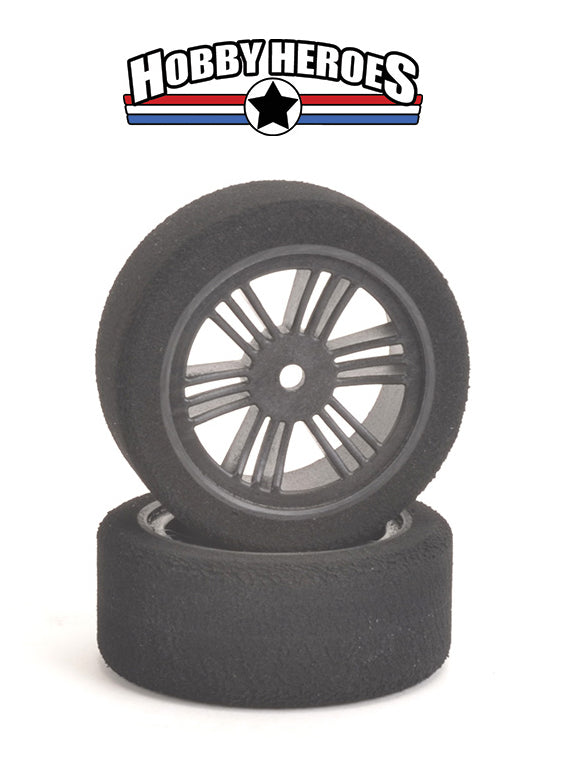 Contact 1/10 Front 26mm 35 Shore Carbon Rim On Road Foam Tires CONJ13573