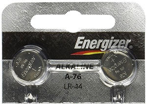 Energizer LR44 1.5-Volt Button Cell Batteries  2 Pieces BHPLR44