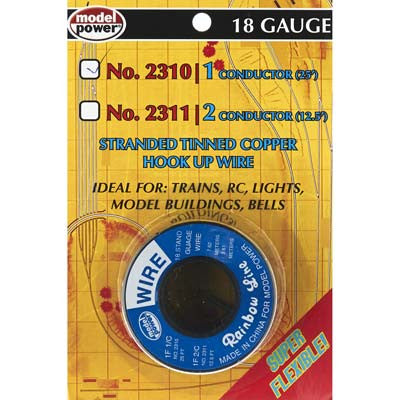 Model Po 1 Conductor Wire Carded 18 (Gauge) 25' MDP2310