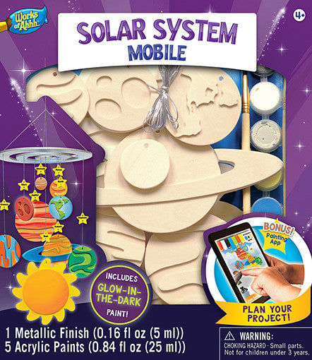Masterpieces Solar System Mobile Wood Kit MST21459