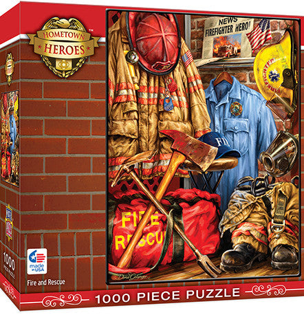 Masterpieces Fire and Rescue 1000 Piece Puzzle MST71511