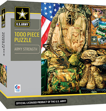 Masterpieces Army Strength 1000 Piece Puzzle MST71512