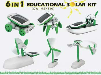 Owi Inc 6 In 1 Educational Solar Kit OWIMSK610