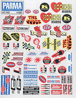 Parma 10607 Decal Sht Medium Hot Rod PAR10607