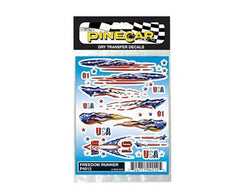 PineCar Freedom Runner Dry Transfer WODP4012