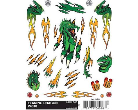 PineCar Flaming Dragon Dry Transfer WODP4018