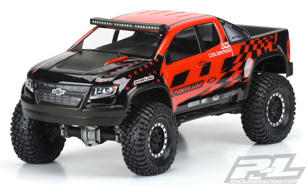 "Pro-Line Chevy Colorado ZR2 Clear Body, for 12.3"" Wheelbase, Crawlers PRO3517-00"