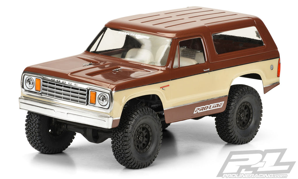 "Pro-Line 1977 Dodge Ramcharger Clear Body for 12.3"" (313mm) Wheelbase Scale Crawlers PRO3525-00"