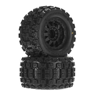 "Pro-line 10127-13 Badlands MX38 3.8"" All Ter Tires Mounted (2) PRO10127-13"