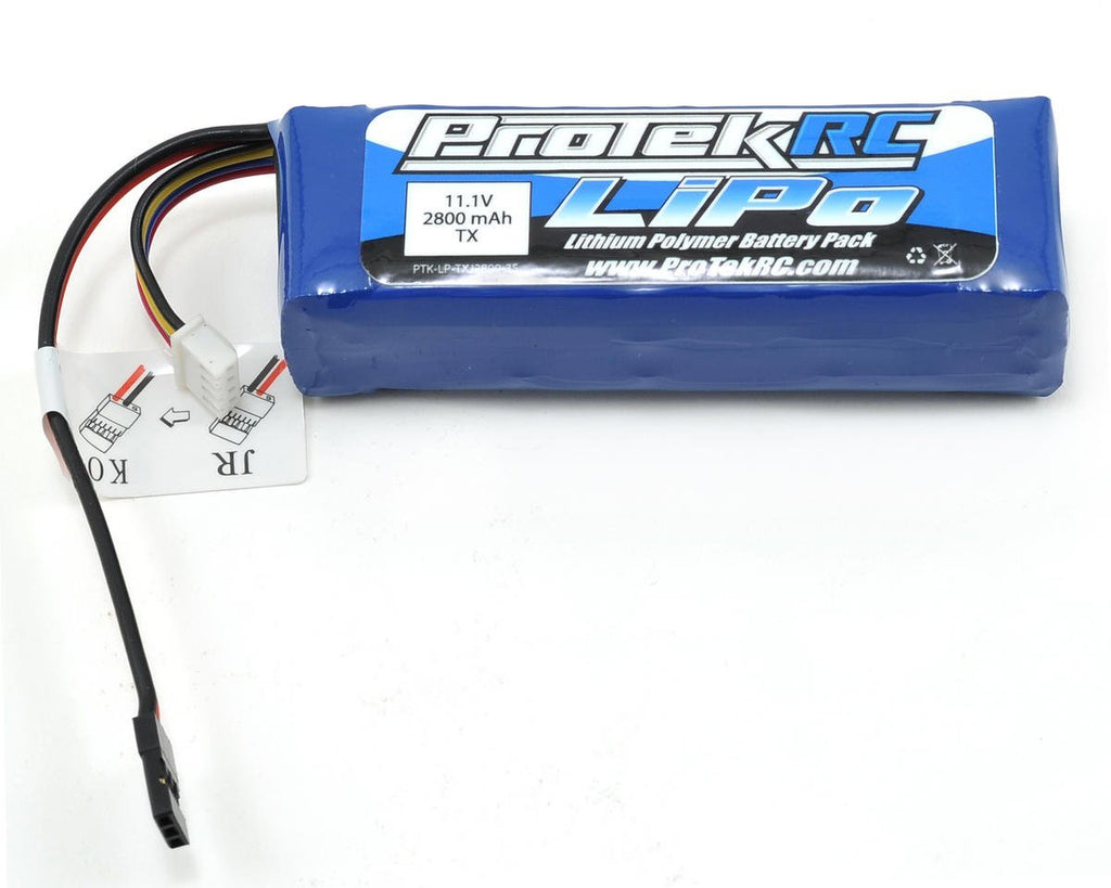 Protek RC LiPo Futaba, JR, Spektrum, KO, Transmitter Battery Pack (11.1V/2800mAh) PTK5173