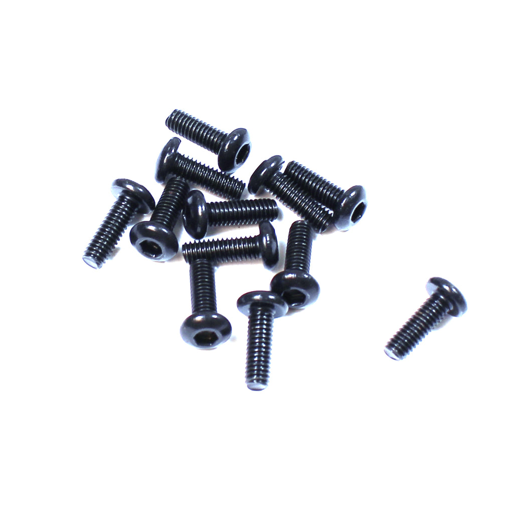Rage Hex Button Head Screws, 4x12mm, for RZX, (12pcs) RGRC6208