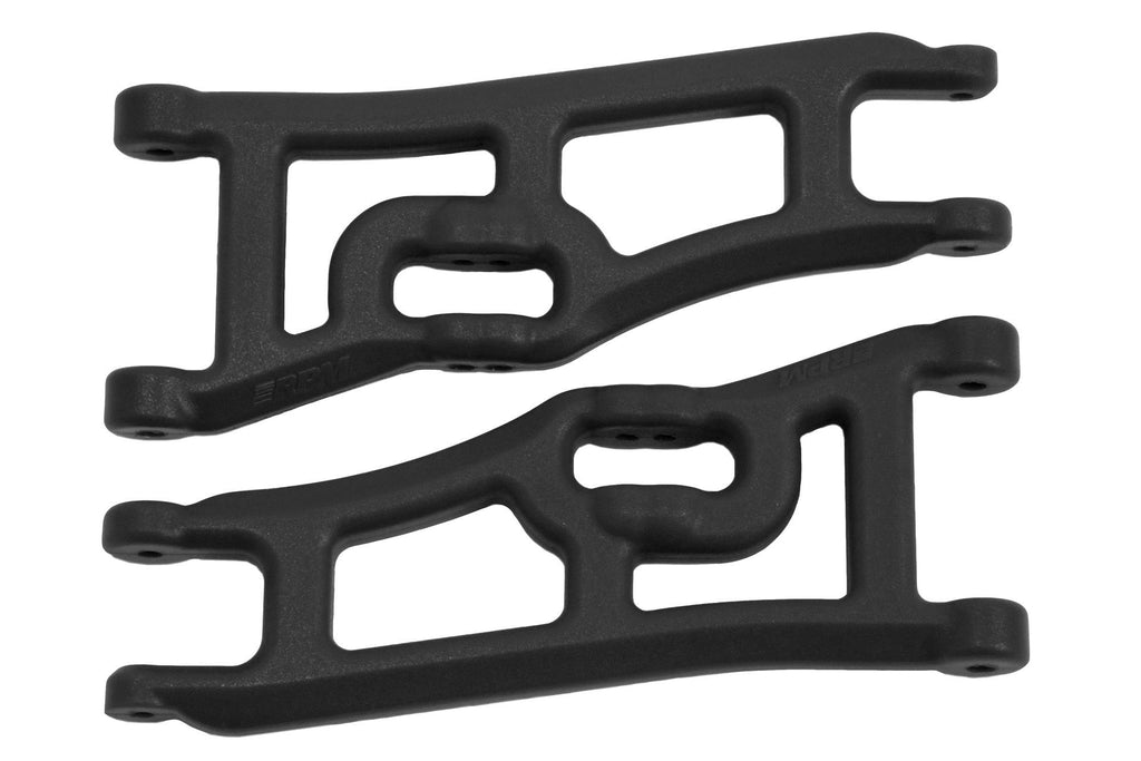RPM Wide Front A-arms for the Traxxas e-Rustler & Stampede 2wd - Black RPM70662