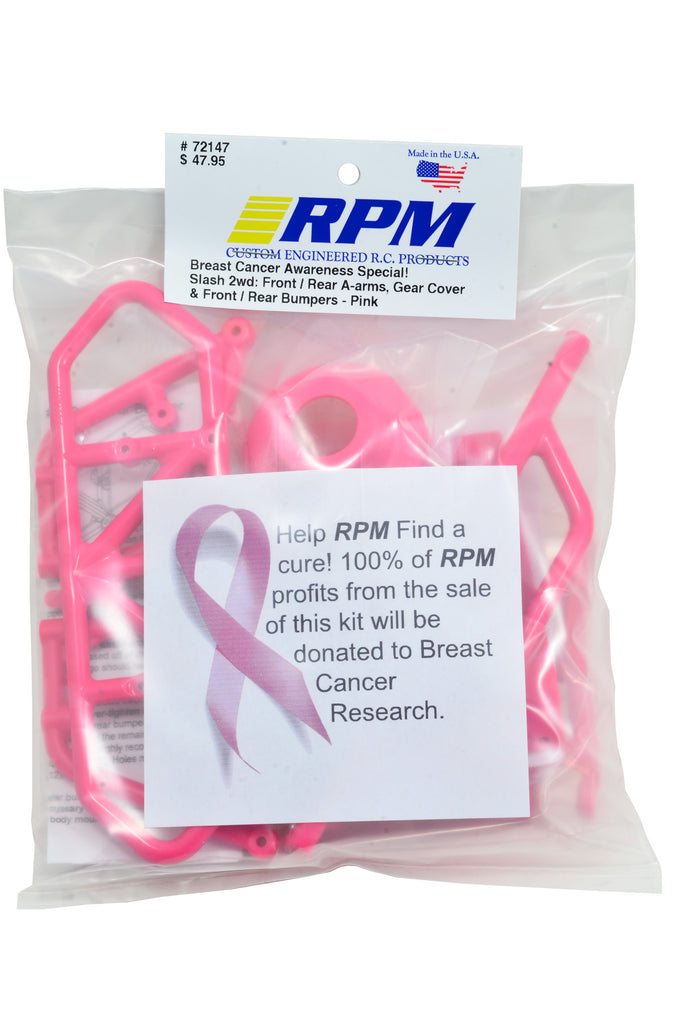 RPM Limited Edition Pink Package for Traxxas Slash 2WD RPM72147