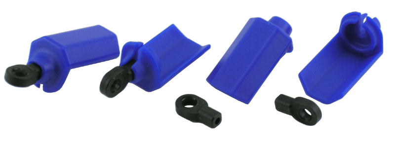 RPM Shock Shaft Guards Slash, Nitro Slash & Durango 1/10 Scale Shocks Blue (4) RPM80405