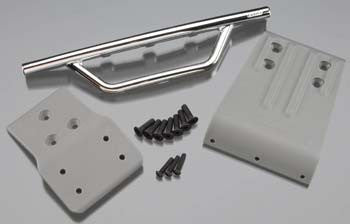 RPM Chrome Front Bumper & Skid Plate for the Traxxas Slash 4x4  RPM80023