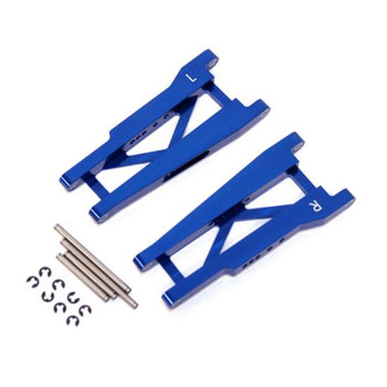 ST Racing Concepts Aluminum Rear Suspension Arms w/Hinge Pins, Blue, for Traxxas Stampede/Rustler STRST3655B