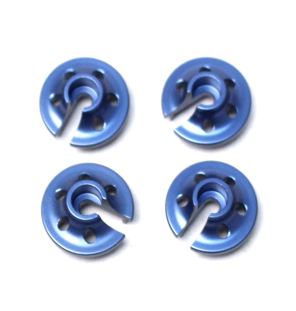 ST Racing Concepts CNC Machined Light Weight Aluminum Lower Shock Retainers (4pcs), for Traxxas 4Tec 2.0 (Blue) STRST3768B