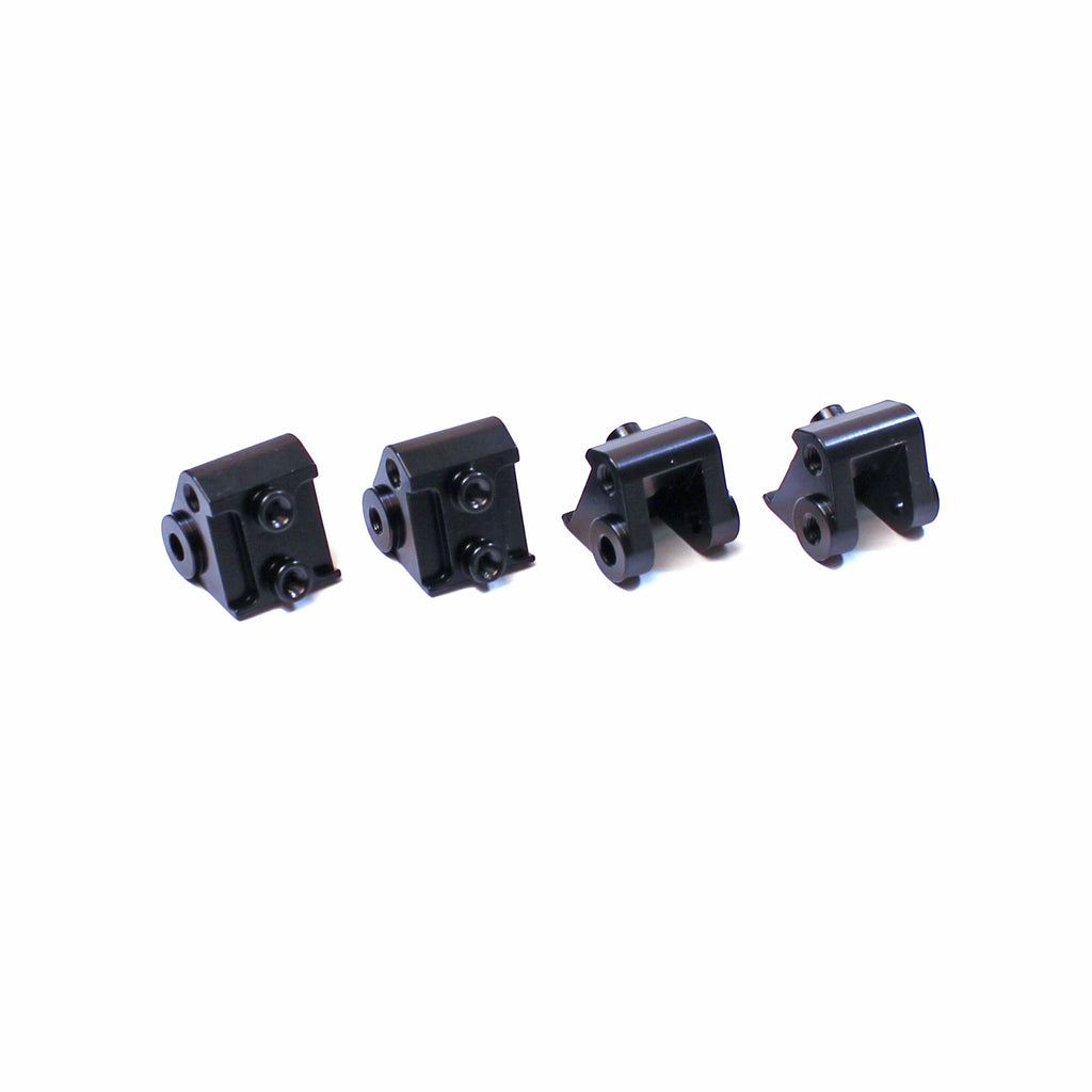 ST Racing Concepts CNC Machined Brass Lower Shock Mounts, Black, for Axial SCX10 II, (4pcs) STRSTA31384XBR