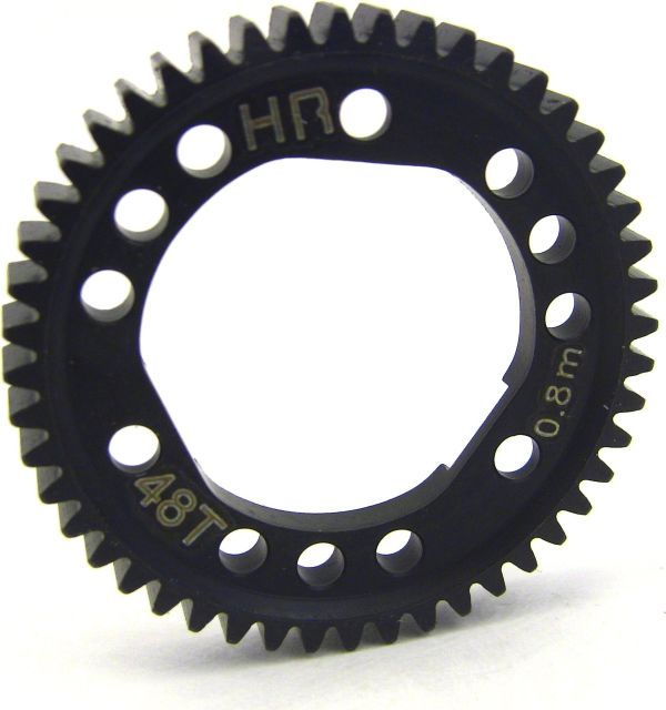 Hot Racing Steel Spur Gear for Center Diff (48T 0.8M/32P) - Tra 4X4 HRASSLF248D