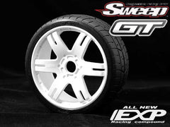 Sweep Racing 1:8 GT EXP Belted 40 deg 6ix Pak ROC White Wheel SW40240E413