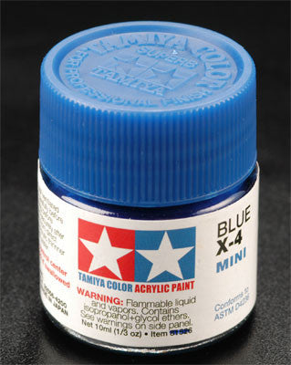 Tamiya X-4 Blue 1/3 oz Acrylic Mini TAM81504