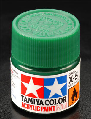 Tamiya X-5 Green 1/3 oz Acrylic Mini TAM81505