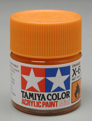 Tamiya X-6 Orange 1/3 oz Acrylic Mini TAM81506