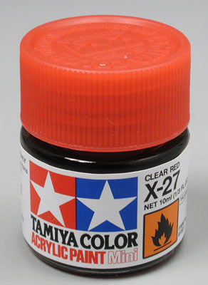Tamiya X-27 Clear Red 1/3 oz Acrylic Mini TAM81527