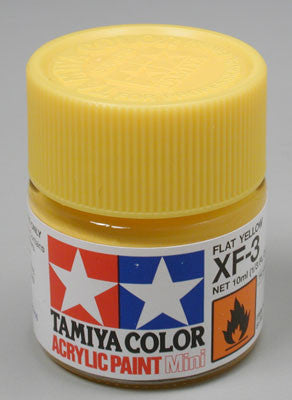 Tamiya XF-3 Flat Yellow 1/3 oz Acrylic Mini TAM81703