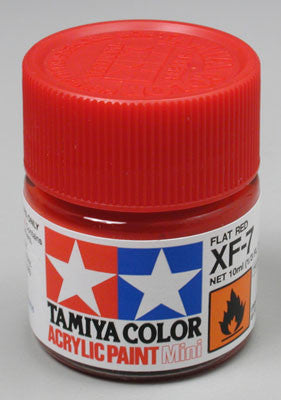Tamiya XF-7 Flat Red 1/3 oz Acrylic Mini TAM81707