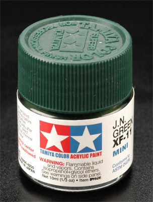 Tamiya XF-11 JN Green 1/3 oz Acrylic Mini TAM81711