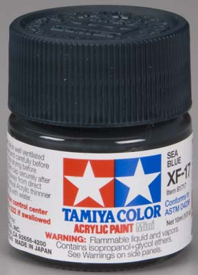 Tamiya XF-17 Sea Blue 1/3 oz Acrylic Mini TAM81717