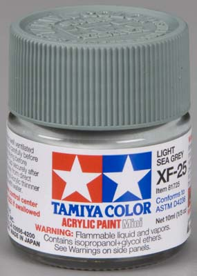Tamiya XF-25 Light Sea Gray 1/3 oz Acrylic Mini TAM81725