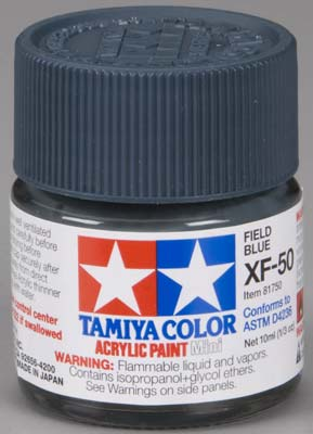 Tamiya XF-50 Field Blue 1/3 oz Acrylic Mini TAM81750