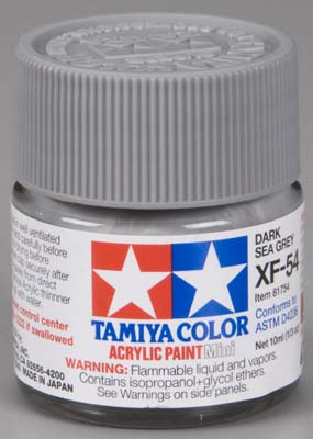 Tamiya XF-54 Dark Sea Gray 1/3 oz Acrylic Mini TAM81754